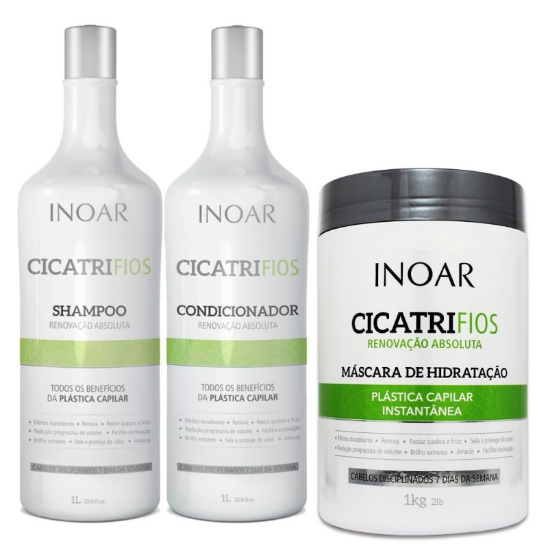 Kit Inoar Cicatrifios (2 Products) + Mask Inoar Cicatrifios 1kg