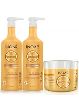 Kit Inoar Absolut DayMoist Shampoo 1000ml + Conditioner 1000ml + Mask 500g