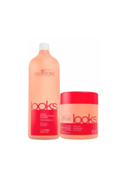 Post Straightening Looks Home Care Kit 1L and 500g - Salvatore