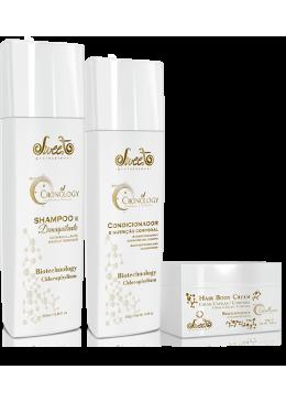 Sweet Hair - Primeiro Shampoo Demaquilante / Condicionador / Mascara Cronology    Beautecombeleza.com