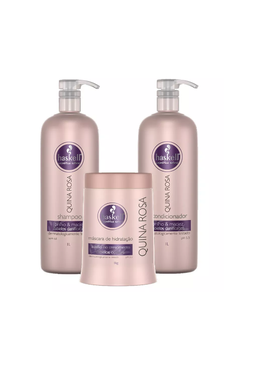 Quina Rosa Professional Kit 2x1L and 1Kg Haskell Beautecombeleza.com