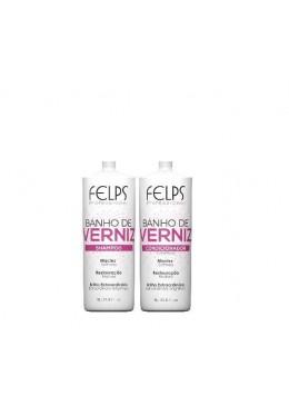 Banho de Verniz Shampoo + Conditioner Kit 2x1L - Felps Beautecombeleza.com