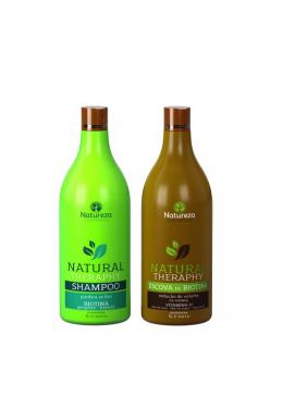 Biotina Natural Therapy Formaldehyde Free Brush Kit 2x1L- Natureza Beautecombeleza.com