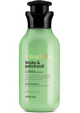 Vegan Lemon and Patchouli Body Lotion Moisturizing Deodorant 400mL - Nativa SPA Beautecombeleza.com