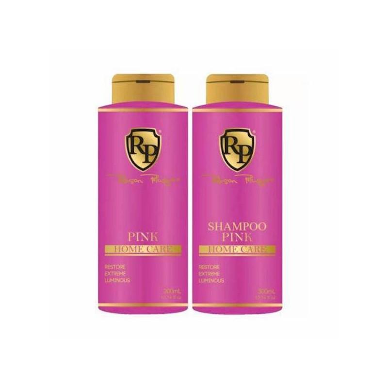 Pink Home Care Mask Toning Shampoo + Pink Mask 2x300ml - Robson peluquero beautecombeleza.com