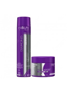 Diamond Silver Shampoo + Mask Matifying (2x300ml) - Evolpy Liss Beautecombeleza.com