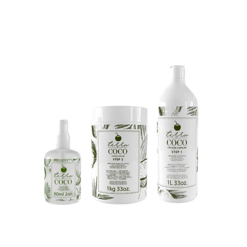 Kit Shampoo+ Conditioner+ Elixir - Loja Terra Coco Beautecombeleza.com