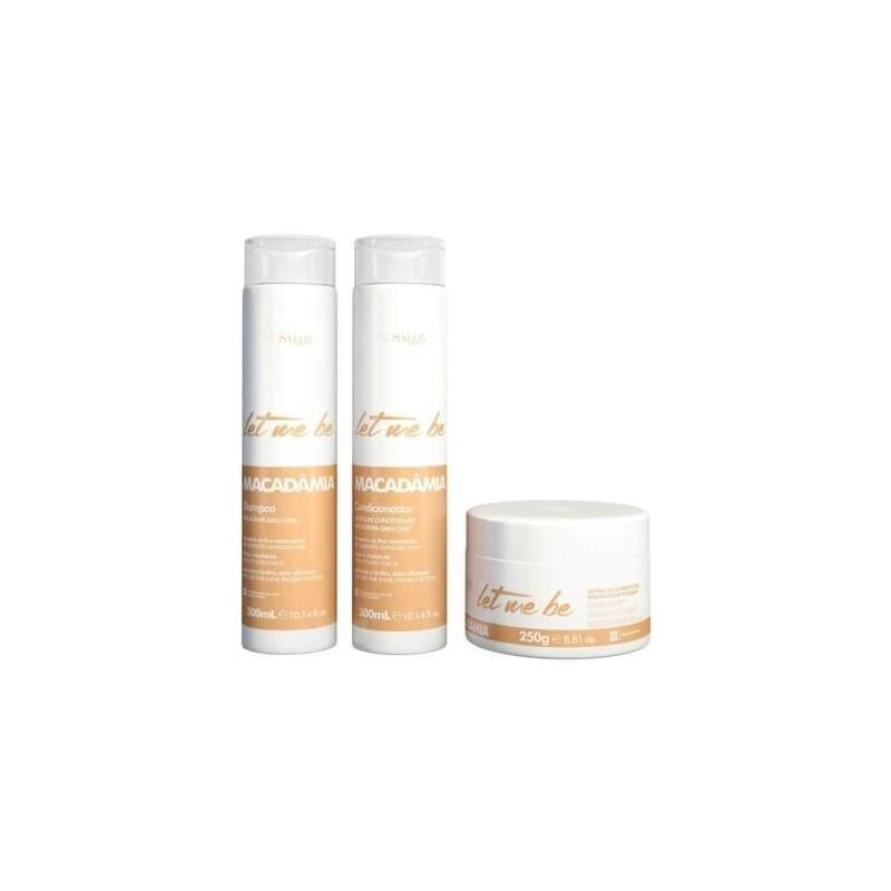 Kit Home care Macadamia (2x500ml + 250g) - Prosalon Beautecombeleza.com