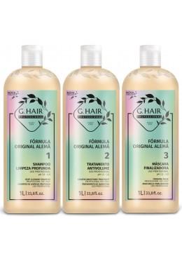 INOAR G HAIR lissage brésilien kératine allemand formule traitement KIT 1000ml      Beautecombeleza.com