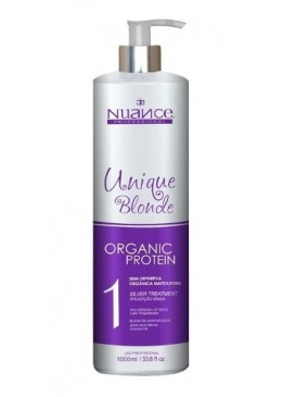 Hair Treatment Unique Liss Blonde Organic Protein Semi Definitive 1L - Nuance  Beautecombeleza.com