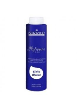 Brazilian Treatment Blond Effect Platinum White Hair Mask Toning 500ml - Nuance  Beautecombeleza.com