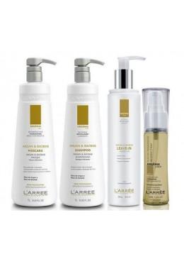 Argania Linea Professional Treatment Argan & Baobab Kit 4 Products - L'ARRËE Beautecombeleza.com