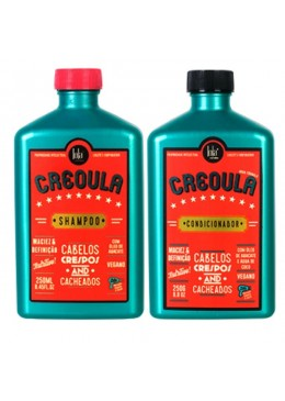 Creoula Afro and Curly Hair Kit Shampoo and Conditioner 2x250g - Lola Cosmetics  Beautecombeleza.com