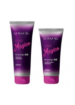 Liso Mágico Perfect Smooth Kit Shampoo and Conditioner Hair Treatment - Lowell Beautecombeleza.com