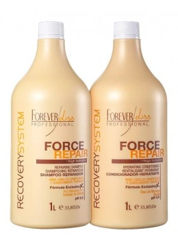 Force Repair Recovery System Hair Treatment Kit 2x1L - Forever Liss Beautecombeleza.com