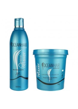 Wave Relaxer Ammonium Thioglycolate Kit 2 Products - Ocean Hair Beautecombeleza.com