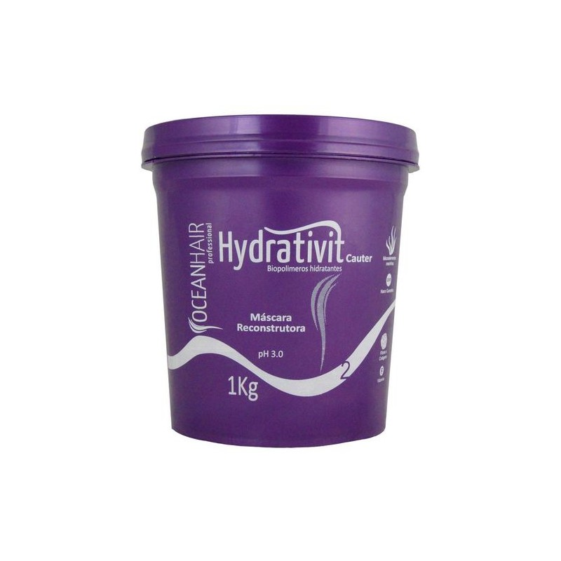 Hydrativit Mask Professional Hydration 1 Kg - Ocean hair Beautecombeleza.com