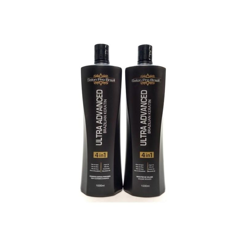 Shampoo E Progressiva Ultra Advanced 2x1000ml - Salon Pro Brazil Beautecombeleza.com