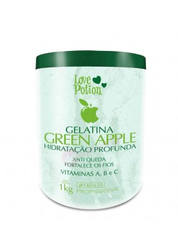 GELATINA GREEN APPLE 1kg -  Love Potion Beautecombeleza.com