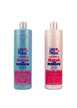 Progressiva Semi Definitiva Marshmallow Sem formol 2X1L- Love Potion Beautecombeleza.com