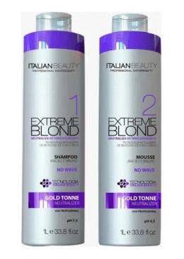 Escova Progressiva No Wave Blond Tratamento 2X1L - Italian Beauty Beautecombeleza.com