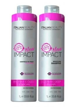 Alisamento Natural New Impact com Hidroxiprolina 2X1L -  Italian Beauty Beautecombeleza.com