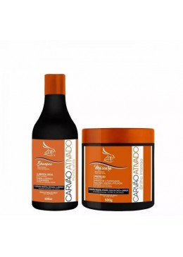 Activated Charcoal Flaxseed Coconut Oil Treatment Kit 2 Products - Zap Cosmetics Beautecombeleza.com