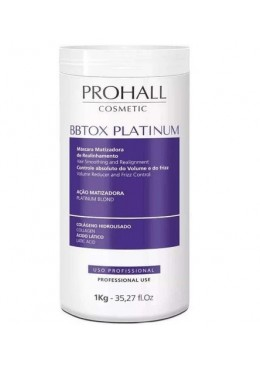 Hair Bbtox Max Platinum Yellow Neutralizer Realignment Toning Mask 1Kg - Prohall Beautecombeleza.com