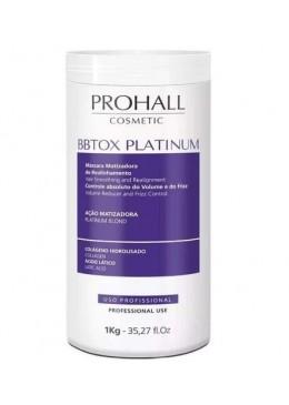 Hair Bbtox Max Platinum Yellow Neutralizer Realignment Toning Mask 1Kg - Prohall Beautecombeleza.com
