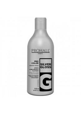 Pro Color Silver Gloss Platinum Effect Tinting Yellow Hair Mask 500ml - Prohall Beautecombeleza.com
