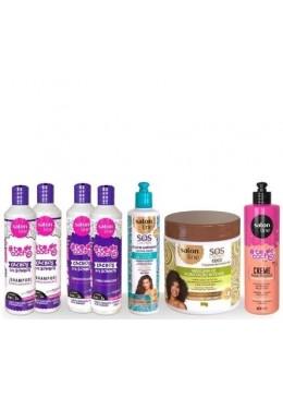 Keratin Professional Treatment Kit for Wavy and Dry Hair 7 Products - Salon Line Beautecombeleza.com