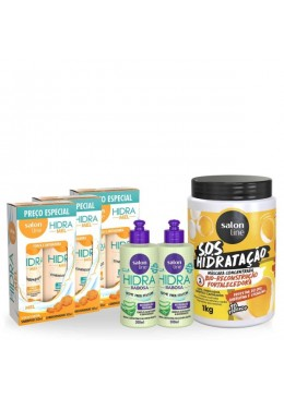 Weak and Brittle Hair Smooth Wavy Relax Treatment 6 Products Kit - Salon Line Beautecombeleza.com