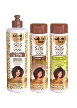 Professional Home Care Treatment Kit SOS Coconut Curls 3 Products - Salon Line Beautecombeleza.com