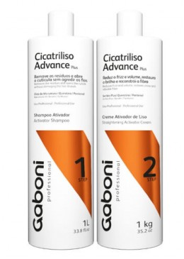 Progressive Shampoo Kit + Advance Plus Activating Cream 2x1L - Gaboni Professional Beautecombeleza.com
