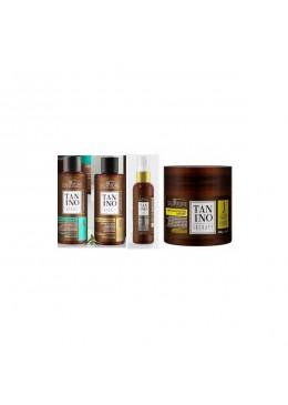 Tanino Therapy lissage (A+ B) huile E e Masque J Kit 4 - Salvatore Beautecombeleza.com