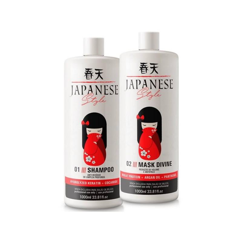 Brazilian Progressive Brush Japanese  2x1L -Japanese Style  Beautecombeleza.com