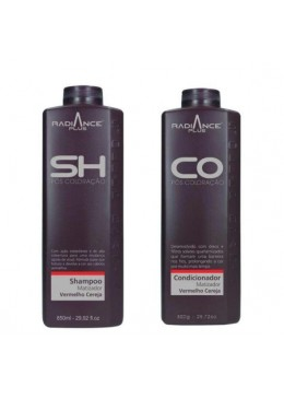 Radiance Plus Red Cherry Tinting Post Coloring Shampoo Conditioner Kit - Soller Beautecombeleza.com
