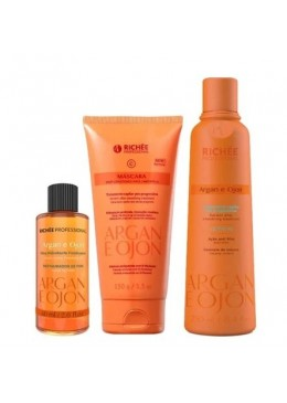 Home Care Hair Treatment Argan and Ojon Maintenance Kit 3 Products - Richée Beautecombeleza.com