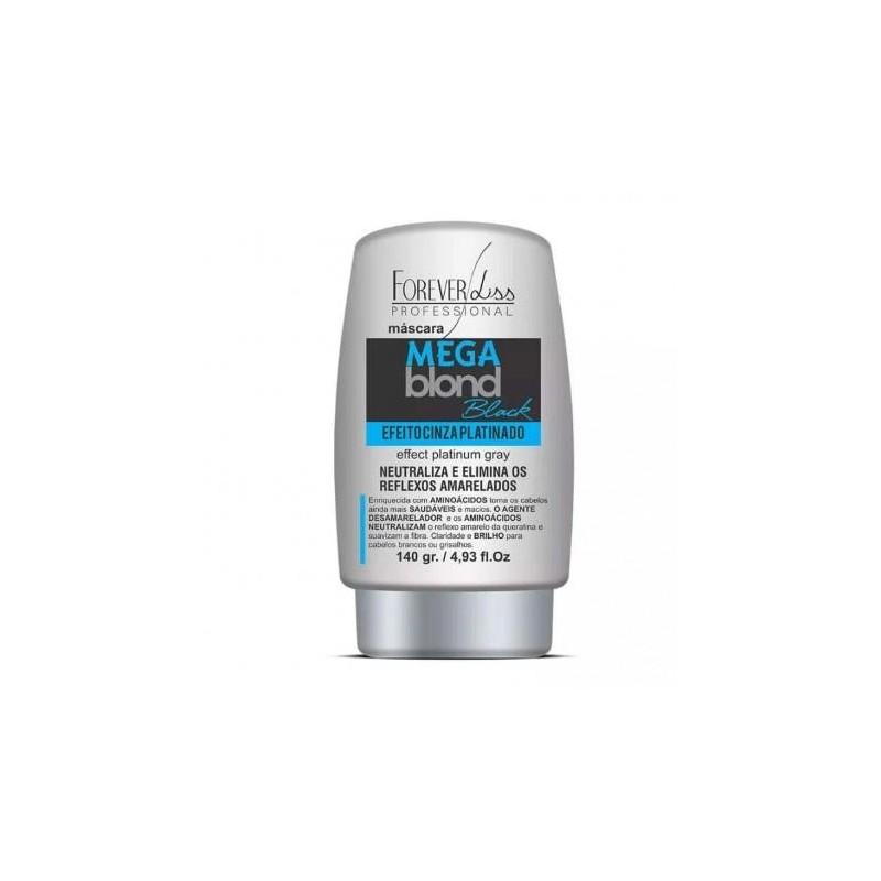 Mega Blond Black Platinum Gray Effect Tint Anti Yellow Mask 140ml - Forever Liss Beautecombeleza.com