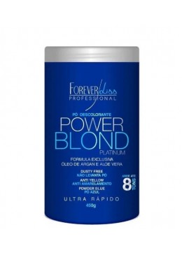 Power Blond Platinum Anti Yellow Ultra Fast Bleaching Powder 450g - Forever Liss