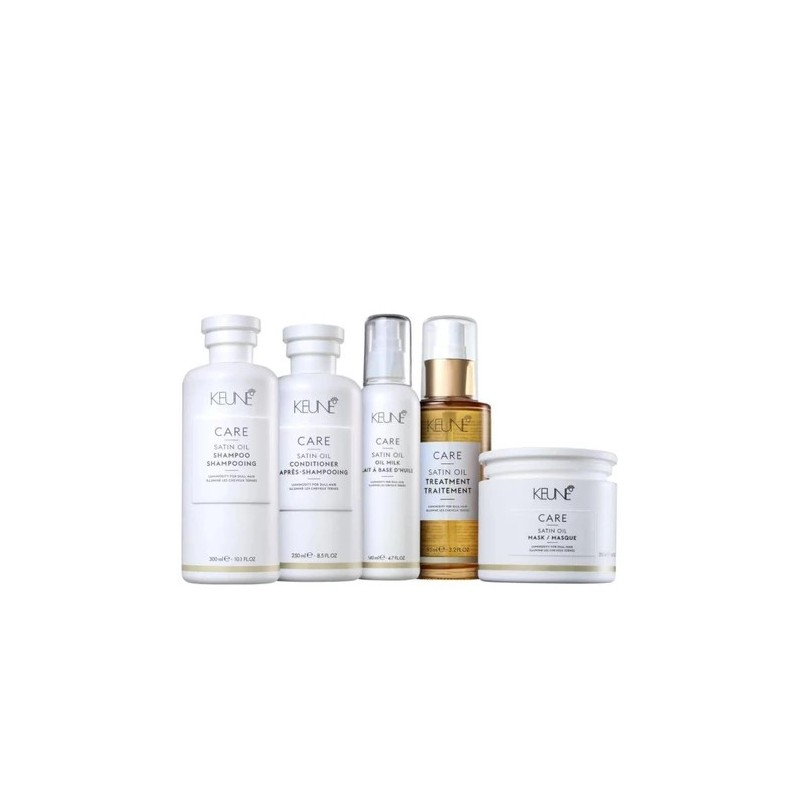 Satin Oil Moisturizing Passionfruit Almond Monoi Yangu Kit 5 Products - Keune Beautecombeleza.com