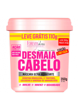 Masque Ultra Hydratant Desmaia Cabelo Anti Frizz  (350g)  Forever Liss  Beautecombeleza