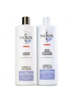 System 5 Light Tuning Chemically Treated Hair Treatment Kit 2 Prod. - Nioxin Beautecombeleza.com