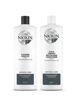 System 2 Natural Hair Advanced Tuning BioAMP Activ Renewal Kit 2x1000ml - Nioxin Beautecombeleza.com