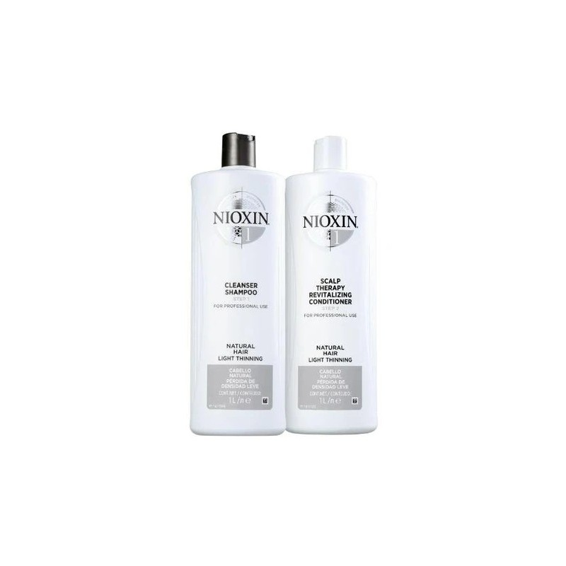 System 1 Therapy Thicker Fuller Natural Hair Light Tuning Kit 2x1000ml - Nioxin Beautecombeleza.com