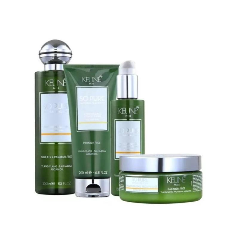So Pure Moisturizing Argan Ylang-ylang Plmarosa Overnight Kit 4 Products - Keune Beautecombeleza.com