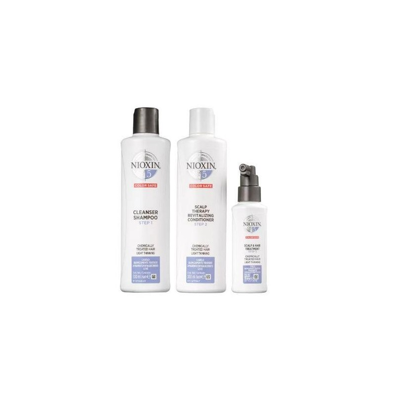 System 5 Chemically Treated Hair Light Tuning Treatment 3 Products - Nioxin Beautecombeleza.com