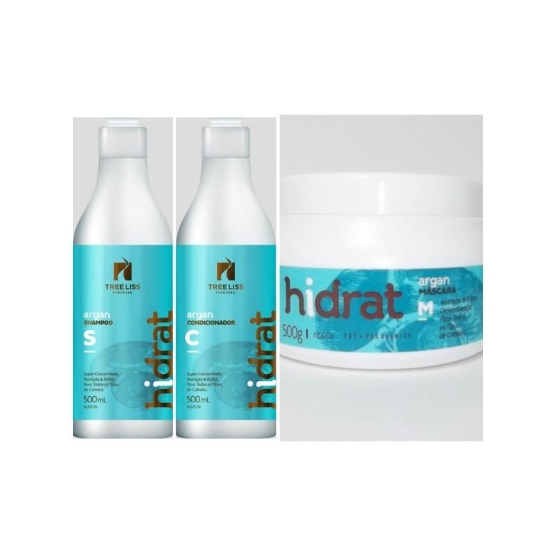Kit Hidrat Argan Tree Liss - 2x500ml and 1x500g