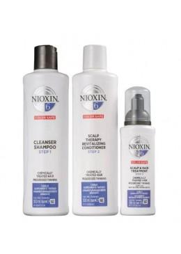 Systèm 6 Nioxin pour Cheveux Traités Chimiquement Kit 3 Prod. - Nioxin Beautecombeleza.com