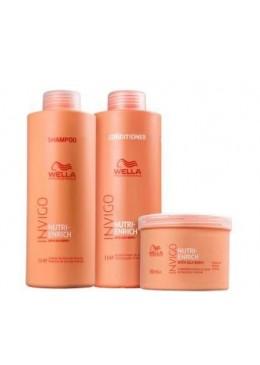 Invigo Nutri-Enrich Dry Chemically Treated Hair Nutrition Kit 3 Prod. - Wella Beautecombeleza.com